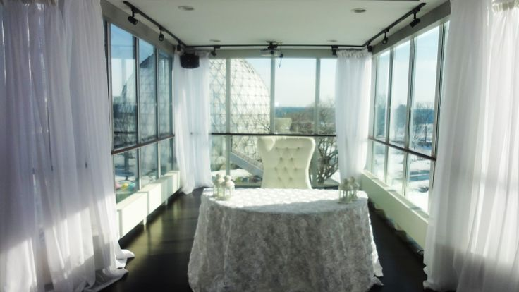 Atlantis Toronto-This amazing gem has floor to ceiling windows and when the sun sets on lake ontario which you are actually on top of (Bridge over to get there), it's absolutely breathtaking!  The CN Tower in the background with beautiful furnishings internally make this a top choice in the gem venues !!!!! http://www.atlantispavilions.com/index.html