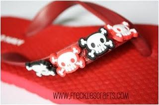 An embellished flip flop for boys.