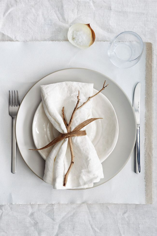 great autumn place setting