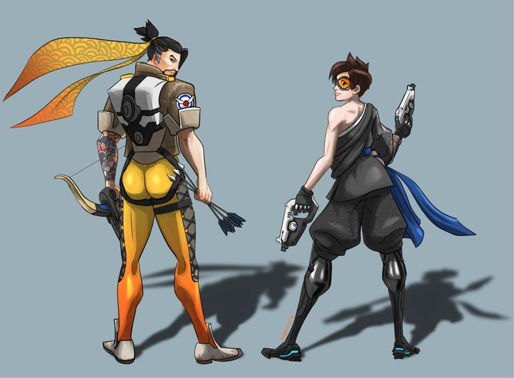 Hanzo And Tracer In FACEOFF 2 Overwatch Art Pinterest