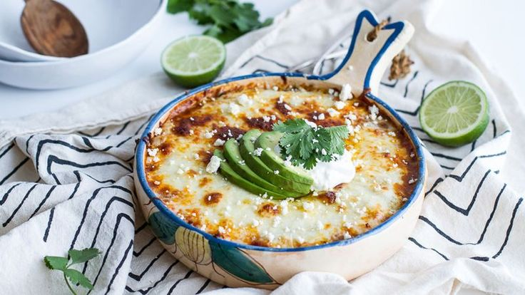 Traditional enchiladas get a better-for-you upgrade in this no-roll, cheesy quinoa bake.