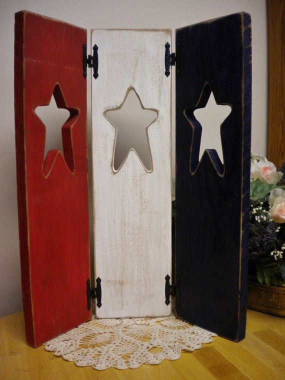 Patriotic Triple Panel Window Shutter by Pearce's Craft Shop $24.95 plus shipping