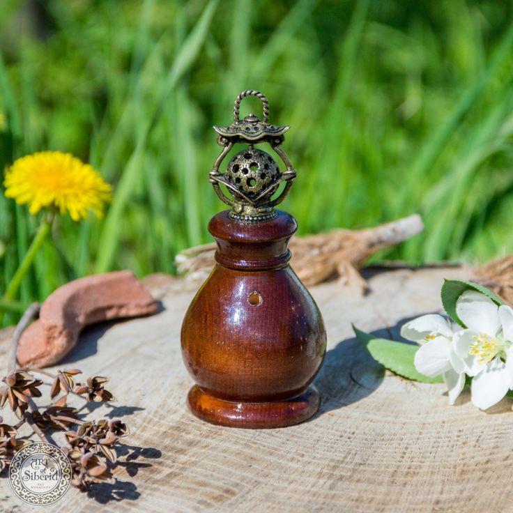 Desktop Aromatherapy Vaporizer Essential Oils Cedar Oil Burner A5 by ArtOfSIberia on Etsy