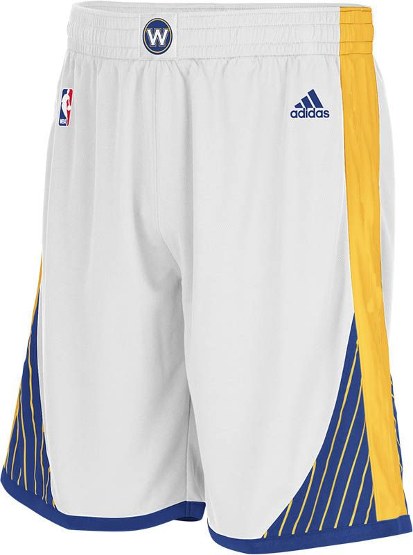 Golden State Warriors Youth White Replica Basketball Shorts by Adidas $30.00