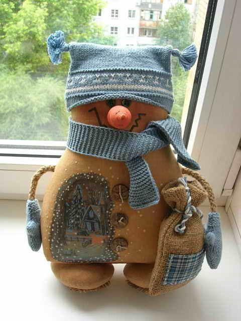 little blue snowman