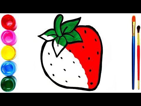Drawing And Coloring Simple Strawberries Menggambar Dan Mewarnai