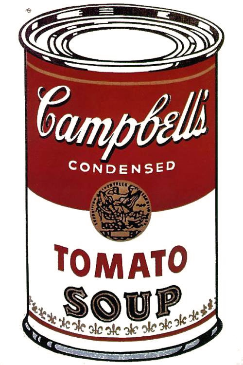 andy warhol campbell 39 s soup can tomato pop art art pinterest campbell 39 s soup cans. Black Bedroom Furniture Sets. Home Design Ideas