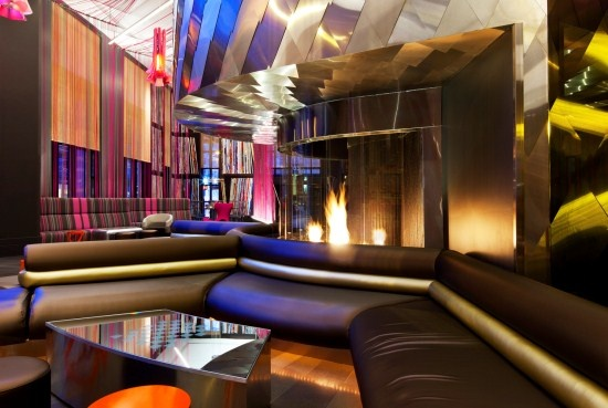 W Seattle Hotel, featuring the Fireside Lounge, showcases the colorful and vibrant side of Seattle