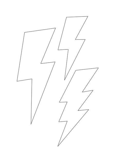 Lightning bolt template small