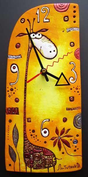 reloj de pared de cerámica Jirafa por fishinthecloud en Etsy