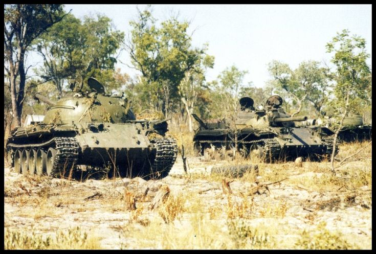 T54's taken out by South African troops deep in Angola during the Bush War