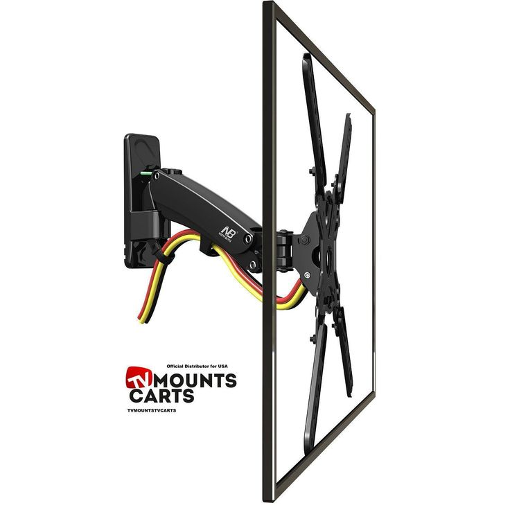"""Universal Full Motion Articulating Gas Spring TV Wall mount for 40"""" - 50 inch LED LCD Flat Panel Screens from 17lbs up to 35lbs F350"""