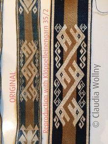 Claudia Wollny Arlon Die fabehalfte Welt the wonderful word Brettchenweben tablet weaving kaartweven WAL weave-along