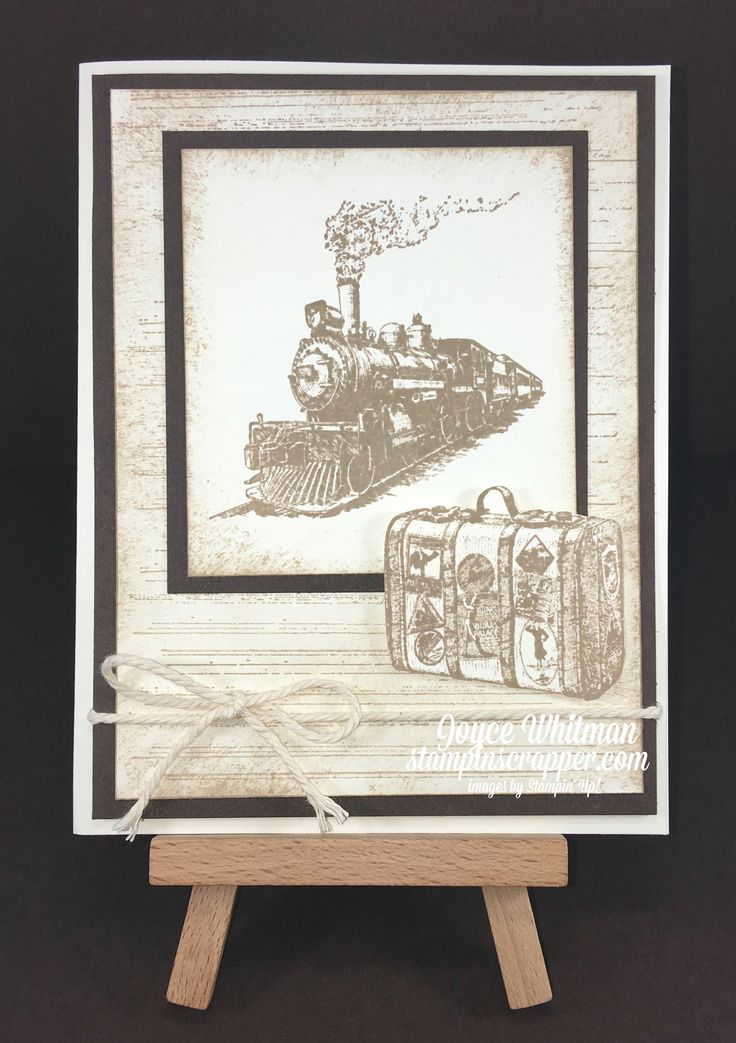 A masculine card using the Traveler, Gorgeous Grunge and Birthday Blossoms stamp sets from Stampin' Up!