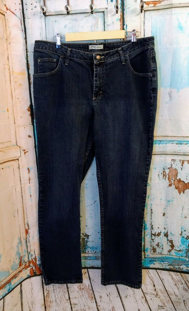 Womens RIDERS by LEE Eased Fit Stretch Flat Front Straight Leg Size 16W | Clothing, Shoes & Accessories, Women's Clothing, Jeans | eBay!