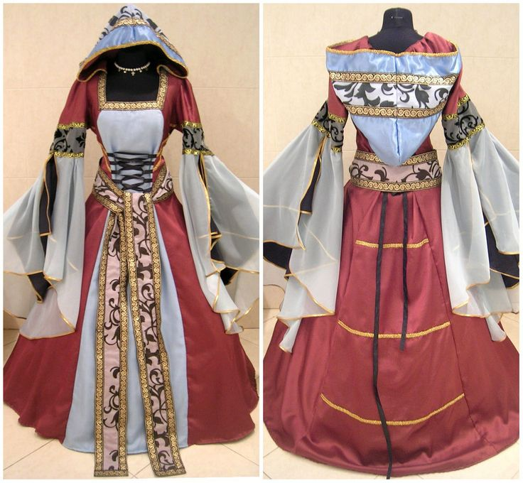 MEDIEVAL DRESS GOTH 12-14-16 S-M-L COSTUME WITCH FANCY CARNIVAL X-MAS WICCA ROBE #Custommade #Dress