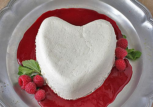 The Galley Gourmet: Coeur a la Creme with Raspberry Coulis