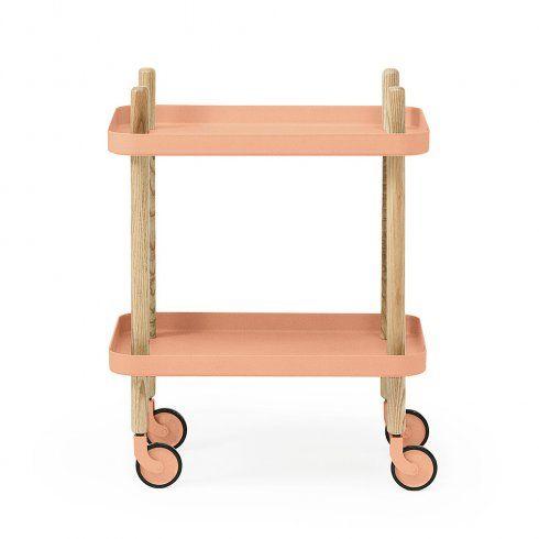 Normann Copenhagen Block Side Table/Trolley - Coral