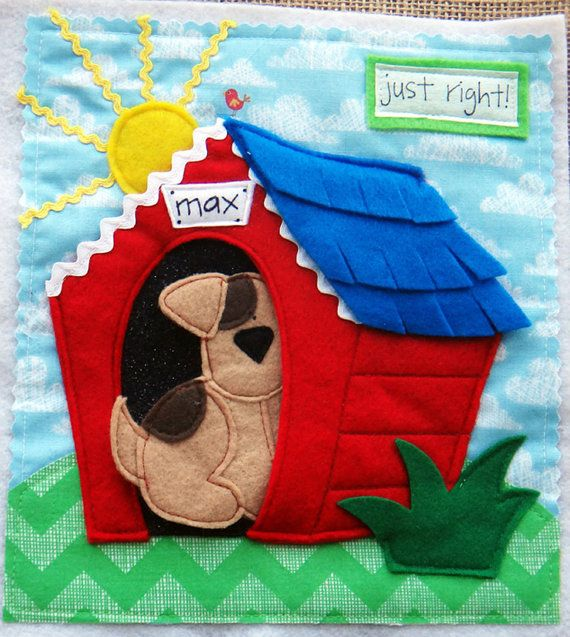 A Home for Max FELT QUIET Book .PDF Pattern por LindyJDesign