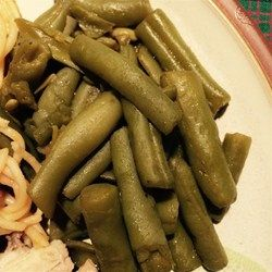 Mom's Great Green Beans - I googled how to make canned green beans better and this recipe didn't disappoint