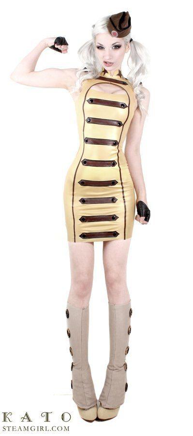 Kate Lambert Kato military gold steampunk steam punk fashion couture style erotica model cosplay steamgirl girl girls fetish фетиш эротика стимпанк модель косплей мода