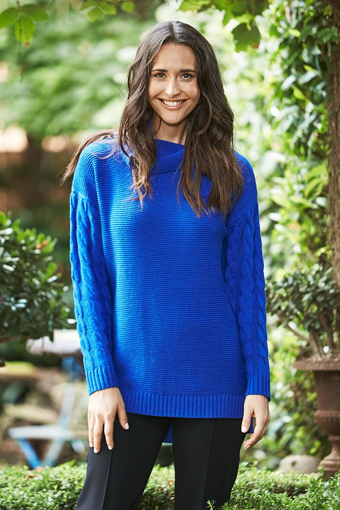 Brighten up your Winter wardrobe with this gorgeous jumper, featuring a knit design with a high neckline to ensure warmth and comfort. Layer under jackets, or wear solo with a matching tonal scarf.
