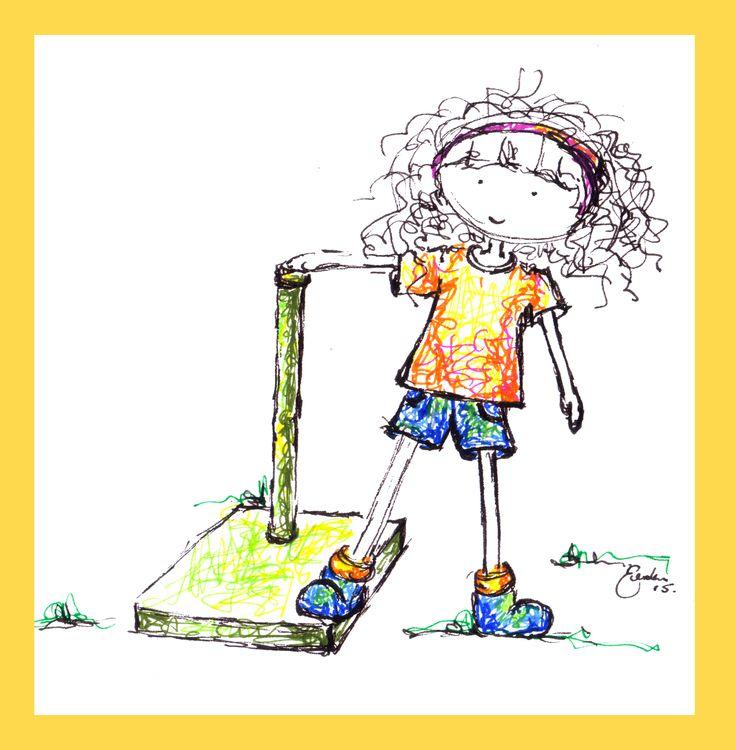 Girl at the Playground - Erika Reid Illustrations