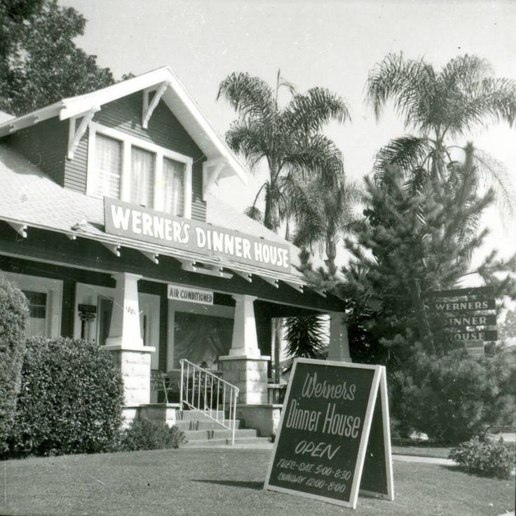Werner's Dinner House on Lincoln Ave, by Anaheim High School.