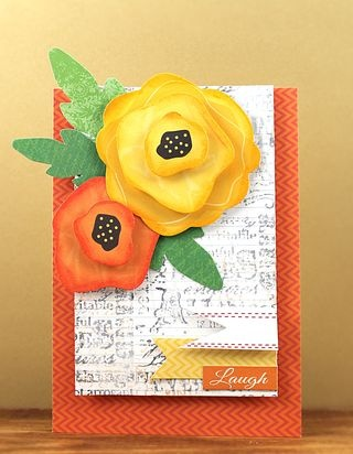 Little Yellow Bicycle, Faber-Castell Design Memory Craft and Penny Black Love Chapter card by Jill Foster.