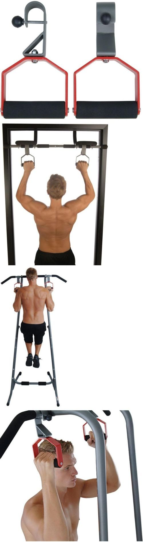 Push Up Stands 158925: Rotating Pull Up Handles 50-0001 Door Gym Power Tower Stable Pull Up Bar Workout BUY IT NOW ONLY: $38.3