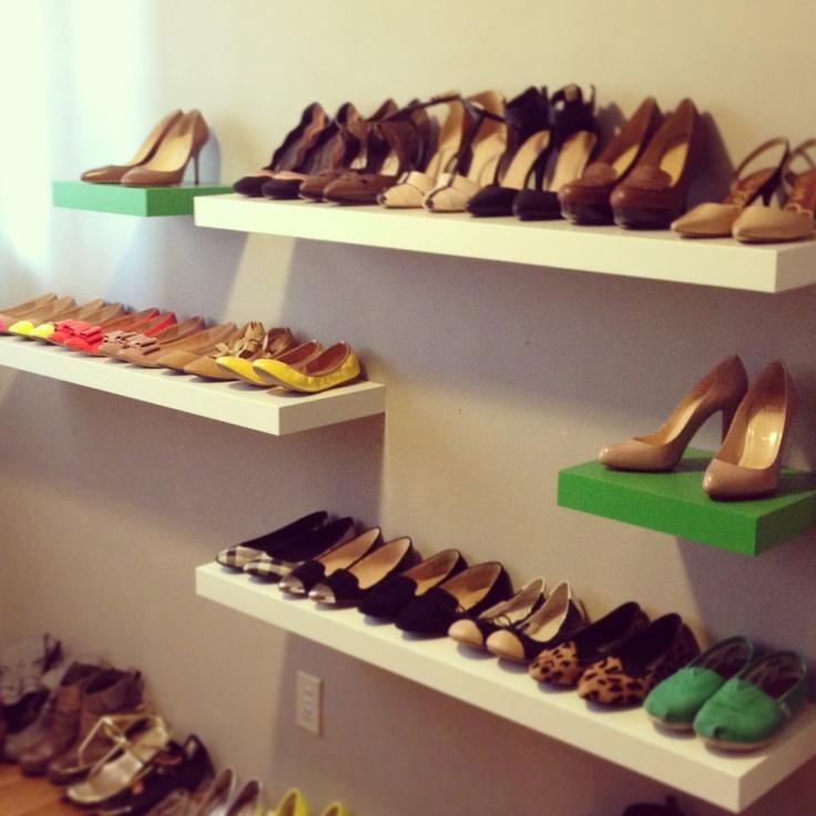 Shoe storage- closet room creation has begun!