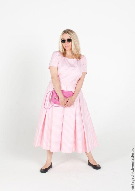 Купить Платье для выпускного в детском саду art.80pink - розовый, шелк, винтаж, винтажный стиль