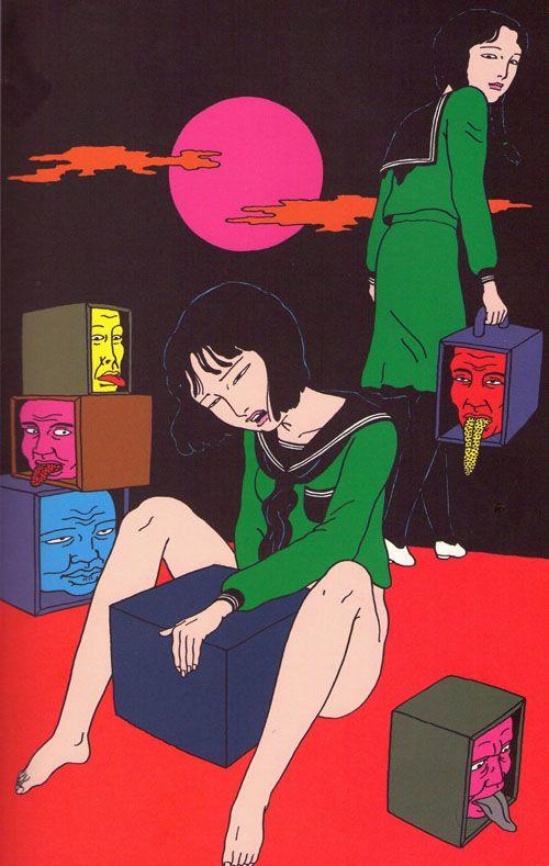 Toshio Saeki.   Wow, esto es tan interesante y perturbador a la vez ...