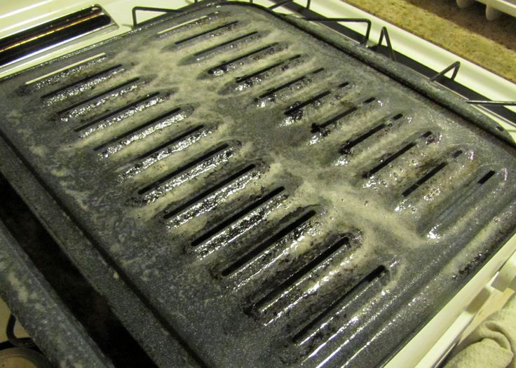 how to clean broiler pan