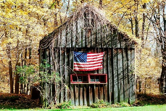 Old Barn Photo And American Flag By Justamoment On Etsy