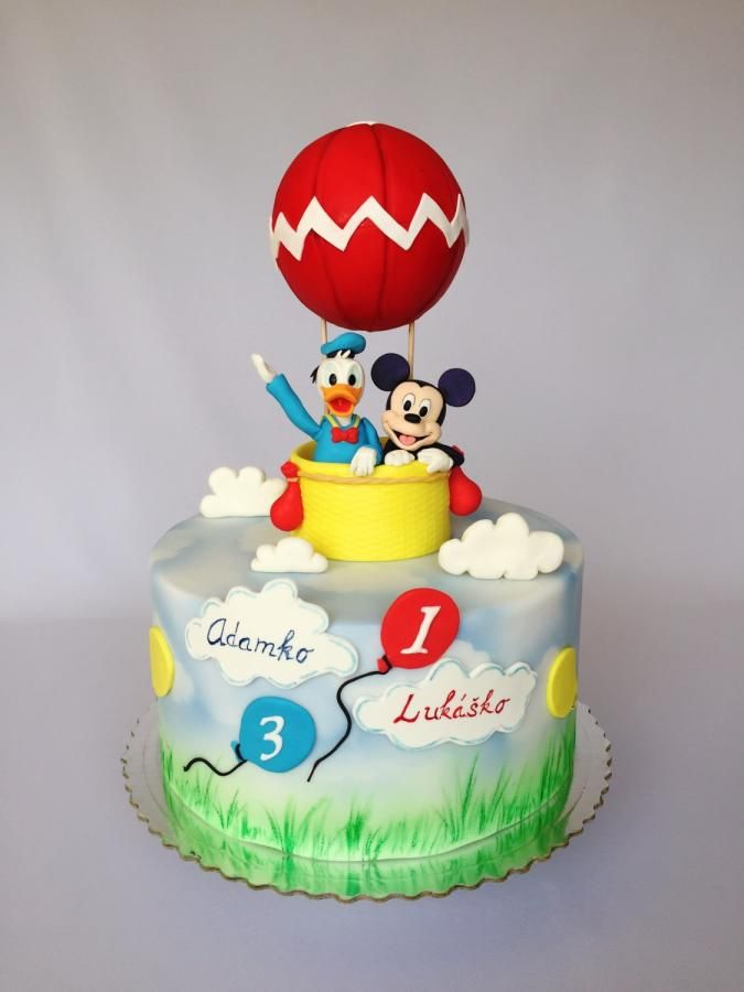 Phenomenal Mickey Mouse Donald Duck Birthday Cake By Layla A Con Imagenes Funny Birthday Cards Online Elaedamsfinfo