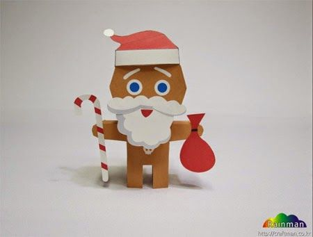 Paperkraft.net - Free Papercraft, Paper Model, & Papertoy: Santa Claus Cookie Papercraft