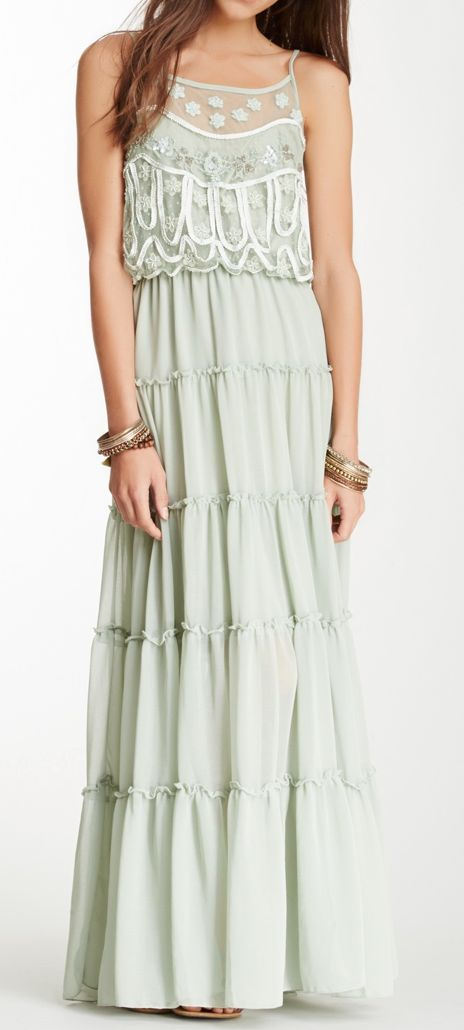 Mint maxi. I don't usually like maxi dresses, but I think I really like this one.