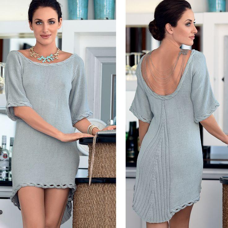 Платье с глубоким декольте на спинке