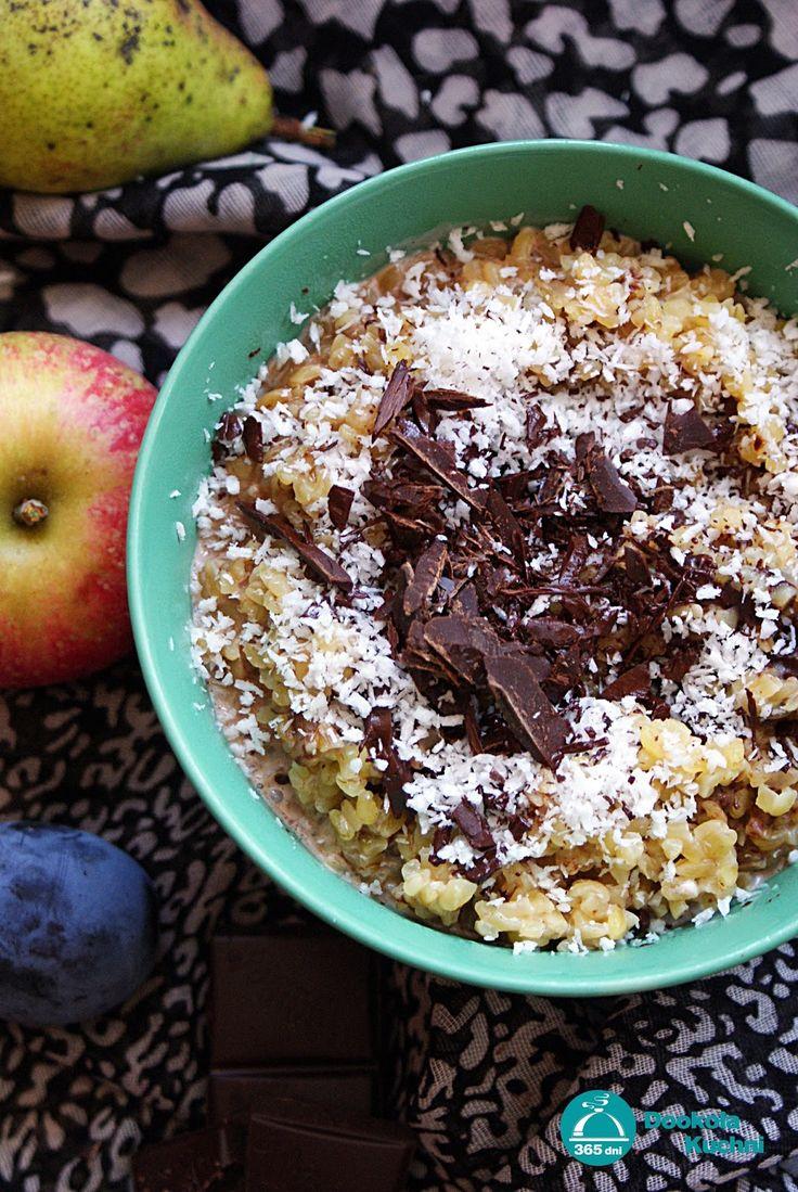 Zdrowe śniadania - czekoladowa kasza bulgur z kokosem