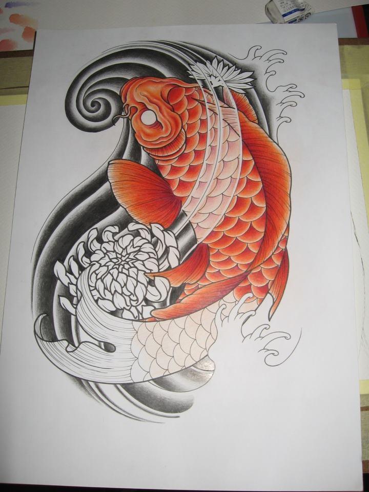 40 best japanese tattoo design images on pinterest japan for Japanese koi dragon