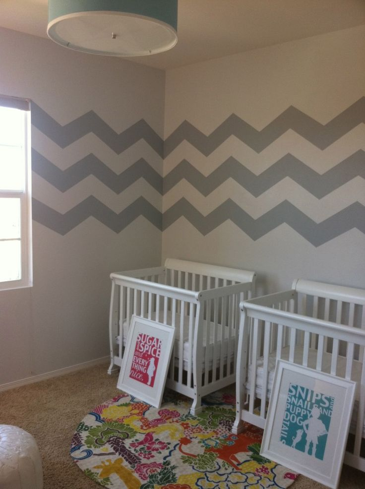 @Morgyn Shay Luse--- The stripes &&& Twin beds! Gah this is your future nursery! ;)