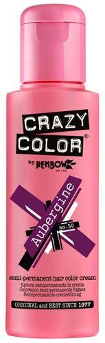 Coloration CRAZY COLOR - Aubergine - Teinture Auburn Cheveux Semi Permanente Pour une Coiffure Rock Punk Gothique Emo rockagogo.com