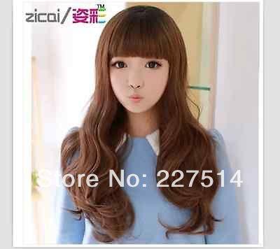 2014 новый длинные вьющиеся волосы парик косой Лю Ци короткие волосы ремонт лицо пушистые длинные s