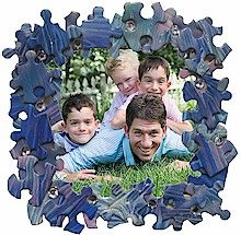 Puzzle piece frame by makingfriends.com