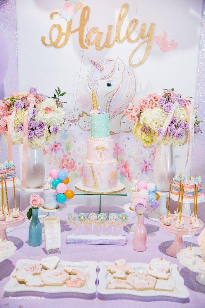 Sparkly Baby Unicorn Birthday Party Unicorn Party Ideas