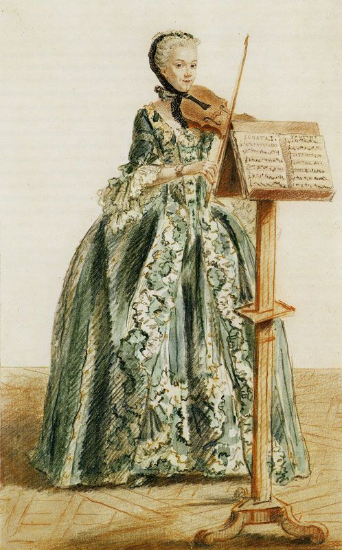 Louis de Carmontelle - Woman Playing the Violin, Seen from the Front
