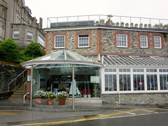 PADSTOW:  The Seafood Restaurant in Cornwall, owned by British chef Rick Stein https://destinationfiction.blogspot.ca/2016/10/doc-martins-port-isaac.html