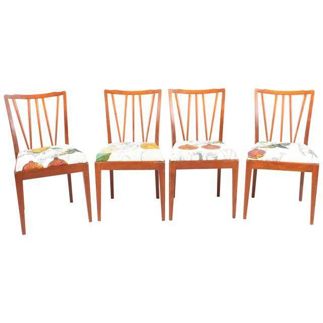 Image of Scandinavian Teak Dining Chairs - Set of 4