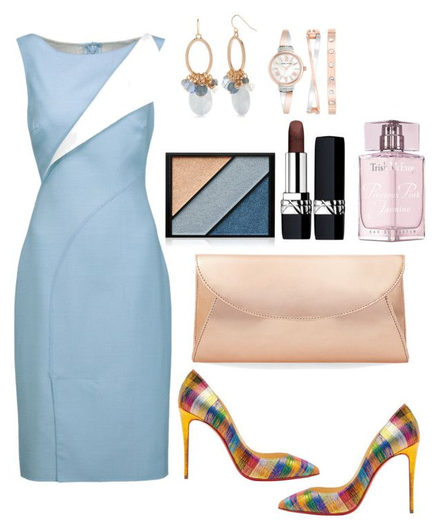 """""""Untitled #670"""" by mamatoodie-1 ❤ liked on Polyvore featuring Oscar de la Renta, Christian Louboutin, New Directions, Elizabeth Arden, Anne Klein, Christian Dior, Trish McEvoy and Steve Madden"""